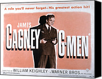 1935 Movies Canvas Prints - G-men, James Cagney, 1935 Canvas Print by Everett