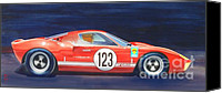Sports Art Painting Canvas Prints - G T 40 Canvas Print by Robert Hooper