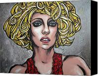 Bad Romance Canvas Prints - Gaga Canvas Print by Sarah Crumpler
