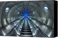 Subway Station Photo Canvas Prints - Galactic Quest Canvas Print by Evelina Kremsdorf