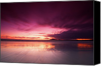 Galapagos Islands Canvas Prints - Galapagos View At Sunset Canvas Print by Andre Distel Photography