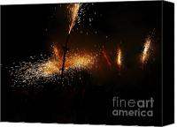 Pyrotechnics Canvas Prints - Galaxy of sparks Canvas Print by Agusti Pardo Rossello