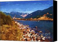 Gallatin River Canvas Prints - Gallatin RIver Dreams Canvas Print by Diane E Berry