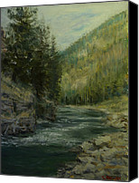 Gallatin River Canvas Prints - Gallatin River Canvas Print by James Corwin