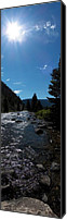 Gallatin River Canvas Prints - Gallatin River Canvas Print by Ken Peterson
