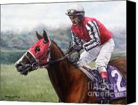Pdjf Canvas Prints - Galloping Back Canvas Print by Thomas Allen Pauly