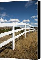 Fences Canvas Prints - Galloping Fence Canvas Print by Peter Tellone