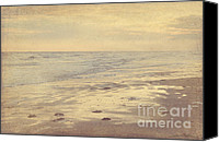 Ocean Photography Canvas Prints - Galveston Island sunset seascape photo Canvas Print by Svetlana Novikova