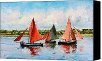 Sail Boat Canvas Prints - Galway Hookers Canvas Print by Conor McGuire