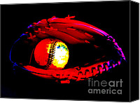 Baseball Mitt Canvas Prints - Game night Canvas Print by Lj Lambert