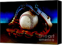 Baseball Mitt Canvas Prints - Game Over Canvas Print by Lj Lambert