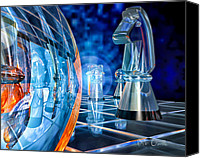 Chess Game Canvas Prints - Game Transparent  Canvas Print by Bob Orsillo