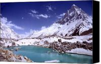 Featured Photo Canvas Prints - Gandharva Tal and Mount Shivaling Canvas Print by Sam Oppenheim