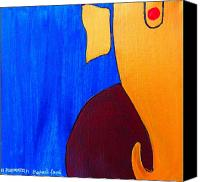 Indian God Canvas Prints - Ganesh Gajananaya Canvas Print by Kruti Shah
