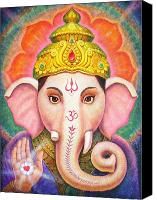 Mystical Canvas Prints - Ganeshas Blessing Canvas Print by Sue Halstenberg