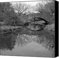 Tree Canvas Prints - Gapstow Bridge - Central Park - New York City Canvas Print by Holden Richards