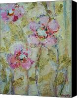Mary Wolf Canvas Prints - Garden Bliss Canvas Print by Mary Wolf