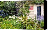 July Canvas Prints - Garden Cottage Canvas Print by Bill  Wakeley