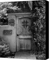 Screen Doors Photo Canvas Prints - Garden Doorway 2 Canvas Print by Perry Webster