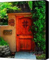 Screen Doors Photo Canvas Prints - Garden doorway Canvas Print by Perry Webster