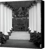 Simpsons Canvas Prints - Garden Entry bw Canvas Print by Kami McKeon