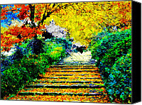 Architectur Canvas Prints - Garden Canvas Print by Ilias Athanasopoulos