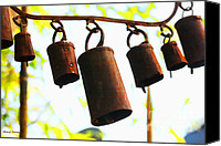 Wind Chimes Canvas Prints - Garden Noah Bells 2 Canvas Print by Cheryl Young