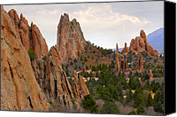 Garden Digital Art Canvas Prints - Garden of the Gods - Colorado  Canvas Print by Mike McGlothlen