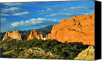 Garden Of The Gods Canvas Prints - Garden of the Gods Front Side View Canvas Print by Gene Sherrill