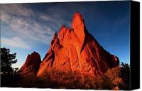 Garden Of The Gods Canvas Prints - Garden Of The Gods Rocks Canvas Print by Paul Svensen