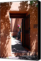 Santa Fe Canvas Prints - Garden Sculptures Museum of Art in Santa Fe NM Canvas Print by Susanne Van Hulst