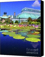 Cities Mixed Media Canvas Prints - Gardens Canvas Print by John-Marc Grob
