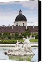 Belvedere Castle Canvas Prints - Gardens of the Belvedere Palace Canvas Print by Andre Goncalves