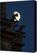 Matthew Green Canvas Prints - Gargoyle Night Watch Canvas Print by Matthew Green