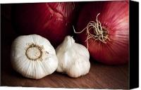 Garlic Canvas Prints - Garlic and Onions Canvas Print by Tom Mc Nemar