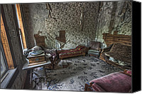 Pioneers Canvas Prints - Garnet Ghost Town Hotel Parlor - Montana Canvas Print by Daniel Hagerman