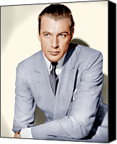 Gray Suit Canvas Prints - Gary Cooper, Ca. 1936 Canvas Print by Everett