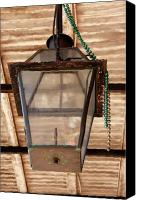 Oil Lamp Canvas Prints - Gas Lamp French Quarter Canvas Print by KG Thienemann