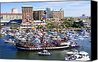 Tampa Bay Florida Canvas Prints - Gasparilla and Harbor Island Florida Canvas Print by David Lee Thompson