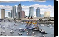 Tampa Bay Florida Canvas Prints - Gasparilla Day Canvas Print by David Lee Thompson