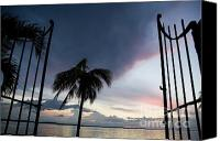 Cienfuegos Canvas Prints - Gate and Cienfuegos Bay at sunset from Punta Gorda Canvas Print by Sami Sarkis