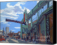 Fenway Park Painting Canvas Prints - Gate C Canvas Print by Deb Putnam