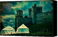 Tent Digital Art Canvas Prints - Gate Tower At Warwick Castle Canvas Print by Chris Lord