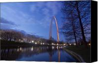 Saint Louis Canvas Prints - Gateway Arch at dawn Canvas Print by Sven Brogren