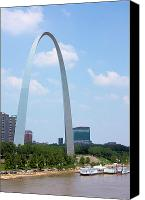 Saint Louis Canvas Prints - Gateway to the West Canvas Print by Kristin Elmquist