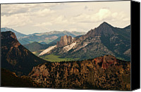 Mountain Scene Canvas Prints - Gateway To Yellowstone National Park Canvas Print by Flash Parker