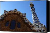 Parc Guell Canvas Prints - Gaudi Architecture Canvas Print by Bob Christopher