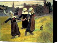 Breton Canvas Prints - Gauguin: Breton Girls, 1888 Canvas Print by Granger