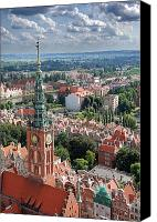 Birdseye Canvas Prints - Gdansk Canvas Print by Jaroslaw Grudzinski