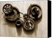 Motion Pyrography Canvas Prints - Gears IV Canvas Print by Jan  Brieger-Scranton